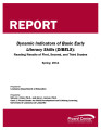 Dynamic indicators of basic early literacy skills (DIBELS) reading results of first, second, and...