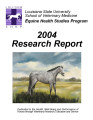 Equine Health Studies Program 2004 Research Report