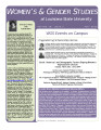 WGS News : A newsletter of Women's and Gender Studies at LSU
