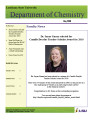 Department of Chemistry Newsletter