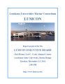 Report prepared for the LUMCON Executive Board