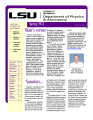 Louisiana State University Department of Physics and Astronomy Newsletter