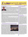 LSU Faculty Senate Monthly Newsletter