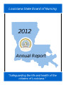 Louisiana State Board of Nursing 2012 annual report