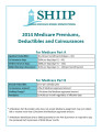 Medicare Premiums, Deductibles and Coinsurances.